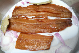 Kippers in milk